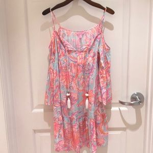Lilly Pulitzer Alanna Dress, Too Much Bubbly, S